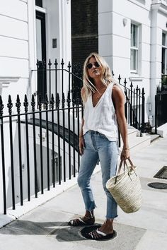 Luc-Williams-Fashion-Me-Now-Straw-Basket  Top Cecile Copenhagen Jeans  Redone Shoes Robert Clergerie Bag Sheerluxe Tooth and horn necklace Lucy  Williams X ... 25613c187a97