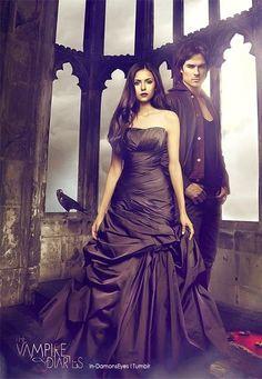 Elena with Damon | The Vampire Diaries .•`♥¸.•`♥