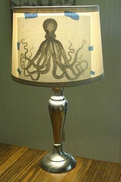 Trace onto a lampshade. Brilliant! BrightNest | Shed Some Light! 4 Ways to Make an Upcycled Lampshade #DIY