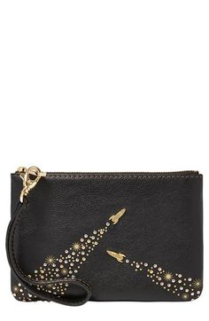 Fossil Leather Wristlet Pouch available at #Nordstrom