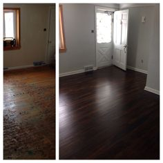 Our New Home! Before U0026 After. Walls   Benjamin Moore Owl Gray. Refinished.  Jacobean Stain1950s HouseFloor StainRefinishing Hardwood ...