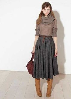 Какую обувь носить с юбкой зимой   Gedonistka.com