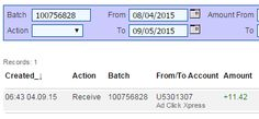 Here is my Withdrawal Proof from AdClickXpress. I get paid daily and I can withdraw daily. Online income is possible with ACX, who is definitely paying - no scam here. Thank You ACX!!!!
