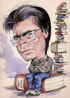 """Stephen King"" Very cute caricature. Stephen Kings, Stephen King Books, Scary Movies, Horror Movies, Horror Books, I Love Books, Good Books, Françoise Sagan, Books Online"