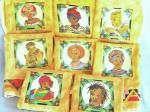 Fabric Painted Placemats - my own design - African Queens