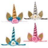 unicorn baby headbands, kids birthday parties, cool party ideas, birthday party,  kids birthday party ideas, first birthday, 1st birthday, party invitations,
