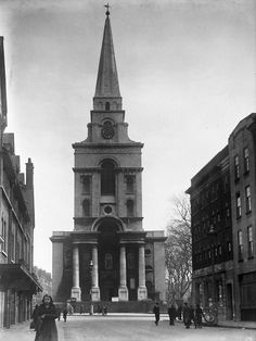 Name: Christ Church Spitalfields from Brushfield Street c1930cb.jpg Views: 2745 Size: 60.7 KB