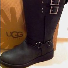 Uggs Jasper The Jasper features a water resistant leather upper with a harness strap adorned with metal rivets. Two buckled straps at the topline are functional and fashionable. UGG Shoes Winter & Rain Boots