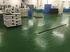 Food Plant Flooring Epoxy  How To Install New Drains for #Hygienic #Food & #Beverage Processing #Floors New floor drains may be required for food processing plant, for various reasons