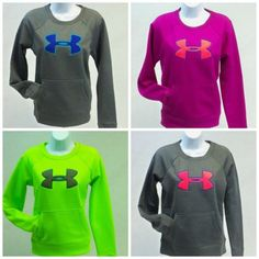 Under-Armour-Womens-Pullover-Logo-Sweatshirt-Coldgear-Storm-Semi-Fitted