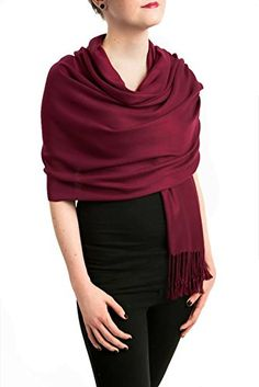 Opulent Luxury Pashmina Cashmere Scarf Shawl Wrap Embellished with Healing Swarovski Crystal Dark Burgundy 80 x 30 >>> Want to know more, click on the image.