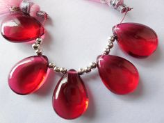 AAA Rubylite Quartz Smooth Pear Shape by Gemstonebeadsfinding, $18.00