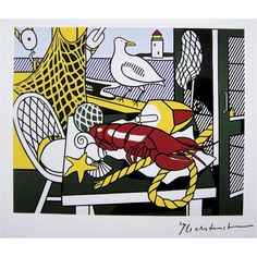 I chose Still Life Cape Cod II by Roy Lichtenstein because I like how he has used a limited colour palette and simple shapes to create this still life of objects associated with the beach.