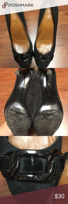 Calvin Klein Black Suede heel, size 10M Retail for $118. In excellent condition. Perfect for upcoming fall months. Calvin Klein Shoes Heels
