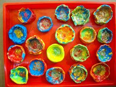 Diwali Craft - We could make Diyas the week before Diwali night and then light up the room with them for the evening itself