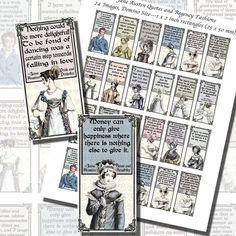 Images,Digital,Stickers,Collage,Illustration,jane austen,pride and prejudice,quote,domino,dominoes,la belle assemblee,regency fashion