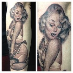 Pin-Up Tattoo By Sam Ford