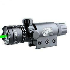 PRO táctico militar Caza Ajustable vista del alcance del laser del punto verde para la Pistola con monturas para miras – USD $ 34.99