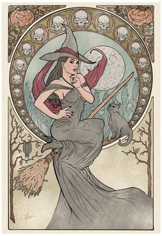 mucha witch - Google Search