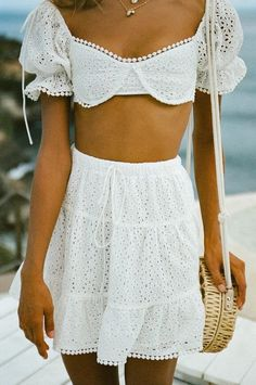 Stylish outfit idea to copy ♥ For more inspiration join our group Amazing Things ♥ You might also like these related products: - Skirts ->. White Skirt Outfits, Pretty Outfits, Stylish Outfits, Beautiful Outfits, Fashion Outfits, Girl Outfits, Unique Outfits, Trendy Fashion, Fashion Clothes