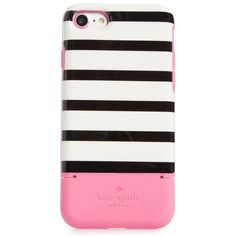 Women's Kate Spade New York Stripe Credit Card Iphone 7/8 & 7/8 Plus... (63 AUD) ❤ liked on Polyvore featuring accessories, tech accessories, pink multi and kate spade