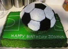 soccer themed cake