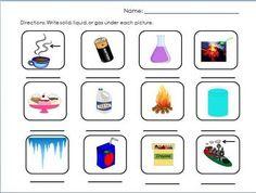 Matter Activity Printable - dijobaker - TeachersPayTeachers.com