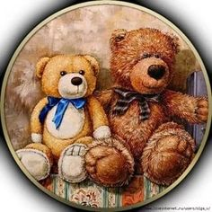 Vintage Teddy Bears, Cute Teddy Bears, Diy Christmas Ornaments, Vintage Christmas, Vintage Paper, Vintage Toys, Teddy Beer, Teddy Day, Etiquette Vintage