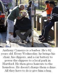 Actualidad y Análisis: Anthony, el barbero de 82 años al que no le gustaban los mendigos (e hizo algo por ellos)