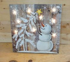 Bild 3 von 3 Source by elfigaubatz Bilderesultater for cute country reindeer tole painting Snowman and white Christmas tree / rustic farmhouse Picture 3 of 3 - DIY Christmas Decoration Primitives by kathy box sign i love that you re my son Christmas Wood Crafts, Christmas Signs, Christmas Snowman, Rustic Christmas, Christmas Projects, Winter Christmas, Holiday Crafts, Christmas Ornaments, Christmas Time