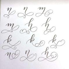 Letter Lovers tiniletters: Handlettering Anleitung Schnörkel: n - m - h - k