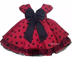 Minie Mouse Party, Mickey Mouse Birthday, Fashion Kids, Disfraz Minnie Mouse, Little Girl Dresses, Girls Dresses, Girl Outfits, Fashion Outfits, Frock Design