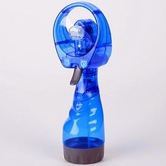 Handheld Fan ,GOODCULLER New Portable Hand held Cooling Cool Water Spray Misting Fan Mist Travel Beach (Blue)