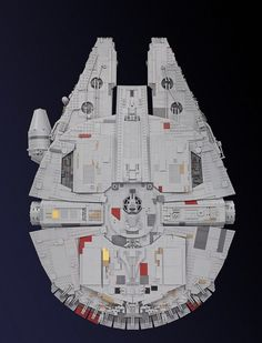 In anticipation of Star Wars: The Force Awakens, one fan decided to build a LEGO model of Millennium Falcon — a 7,500-piece version to be exact.