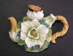 Butterfly Dogwood Flower Collectible Souvenir Refrigerator Kitchen Teapot Magnet   eBay