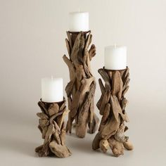 Handcrafted of organic driftwood by Philippine artisans, our candleholder result. Handcrafted of organic driftwood by Philippine artisans, our candleholder results in a rustic table Driftwood Furniture, Driftwood Projects, Diy Projects, Driftwood Sculpture, Driftwood Art, Driftwood Seahorse, Wooden Decor, Wooden Diy, Rustic Tabletop