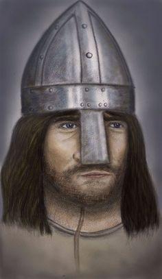 VIKING MEDIEVAL WARRIOR ORIGINAL ART PRINT SIGNED #Realism List Of Artists, Vikings, Riding Helmets, Medieval, Original Art, Art Prints, The Originals, History, Best Deals