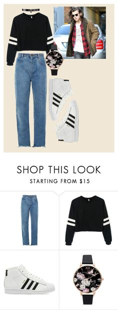 """""""Fall Date with Harry"""" by cg18 on Polyvore featuring Chloé, adidas, Olivia Burton, Fallon, harrystyles, date, Harry and styles"""