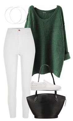 """#272"" by mintgreenb on Polyvore featuring River Island, Louis Vuitton and Common Projects"