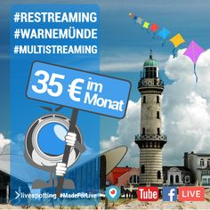Live Stream, Location, Strand, Facebook, Twitter, Youtube, Movies, Movie Posters, Rostock