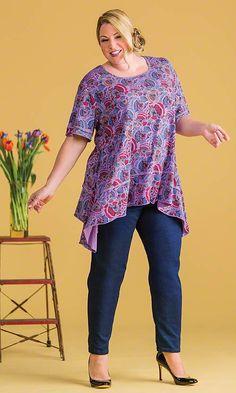 Potpourri Tunic / MiB Plus Size Fashion for Women / Spring Fashion http://www.makingitbig.com/product/5131