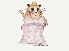 The Royal Hamster has never felt so alive as when in head-to-toe sparkles! *adds more diamonds*✨ @EACH_hospices