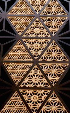 thekimonogallery:Japanese traditional wooden lattice work, Kumiko 組子 | interest | Pinterest | Japanese, Traditional and CNC