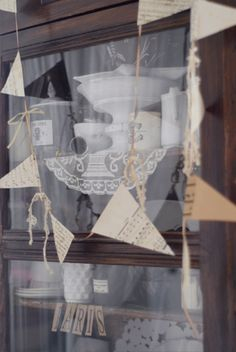 Vintage bunting by Emma Cassi