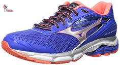 Mizuno Wave Inspire 12 Synthétique Chaussure de Course, Dazzling Blue-Fiery Coral-White, 36.5 EU - Chaussures mizuno (*Partner-Link)