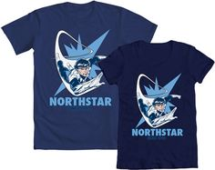Northstar!!!    Do we have any X-Men/Alpha Flight fans out there?! HEADS UP! Repin this before Monday and you are entered to WIN your choice of a mens' or womens' tee featuring the incomparable Northstar! Good luck!