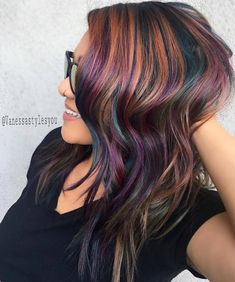 Hair Color And Cut, Haircut And Color, Cool Hair Color, Brown Hair Colors, Purple Hair, Funky Hair Colors, Trendy Colors, Hair Men Style, Color Fantasia