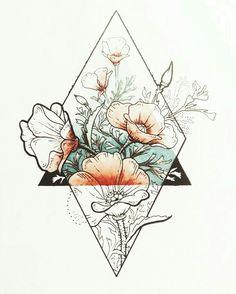 Tattoos I love this idea with my families birth flowers with an earth symbol in the tria. I love this idea with my families birth flowers with an earth symbol in the triangle. Back of my arm would be perfect. Tatoo Art, Body Art Tattoos, Tattoo Drawings, Sketch Tattoo, Tatoos, Tattoo Skin, Sleeve Tattoos, Earth Symbols, Skin Art
