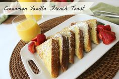 Cinnamon Vanilla French Toast. I have been making French Toast this way for about four years now & I always just add random amounts. Made it with the portions it says & it was the perfect amount for 3 people. I had no extra batter. Perfect!