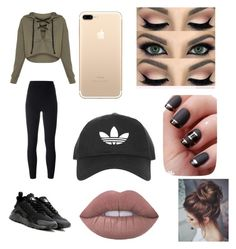 """""""This is what my mom got me like I can't believe I found it on this app"""" by lily21mai on Polyvore featuring adidas Originals, NIKE and Topshop"""